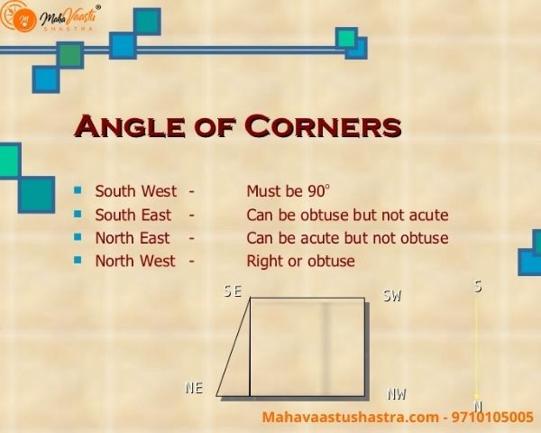 Vastu Angles In The Corner Of A Plot