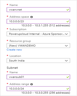 Connectivity between Azure Virtual WAN and Fortinet Appliance
