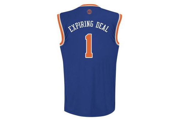 finest selection 30e6b ab5ee Knicks sell out of Expiring Deal jerseys within first 12 ...