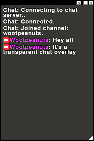 Twitch Chat Overlay - Wootpeanuts - Medium