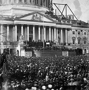 First Inauguration of President Abraham Lincoln, March 4, 1861 — Source: Google Images