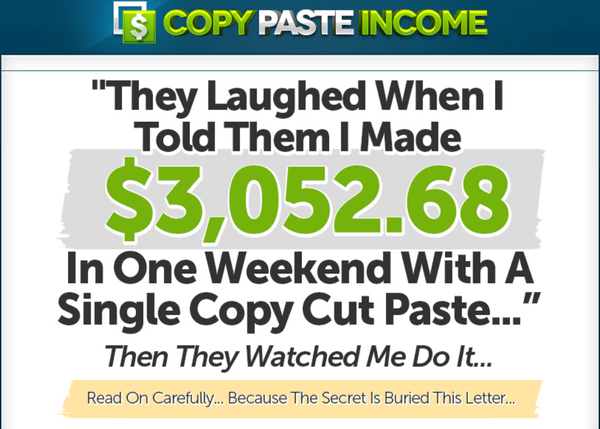 Copy Paste Income System Review. What Is The Copy Paste Income ...