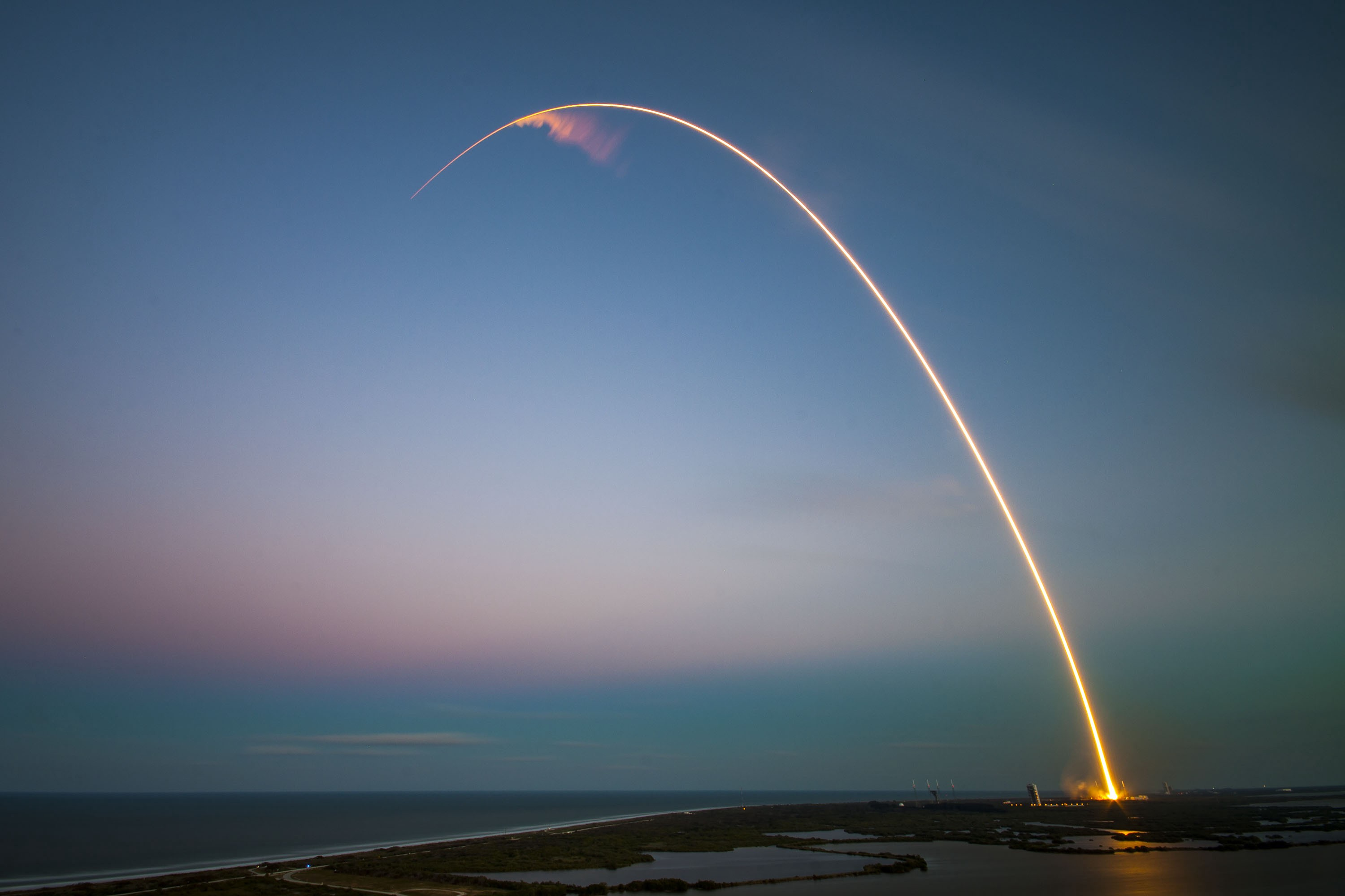 rocket going into space, cover image