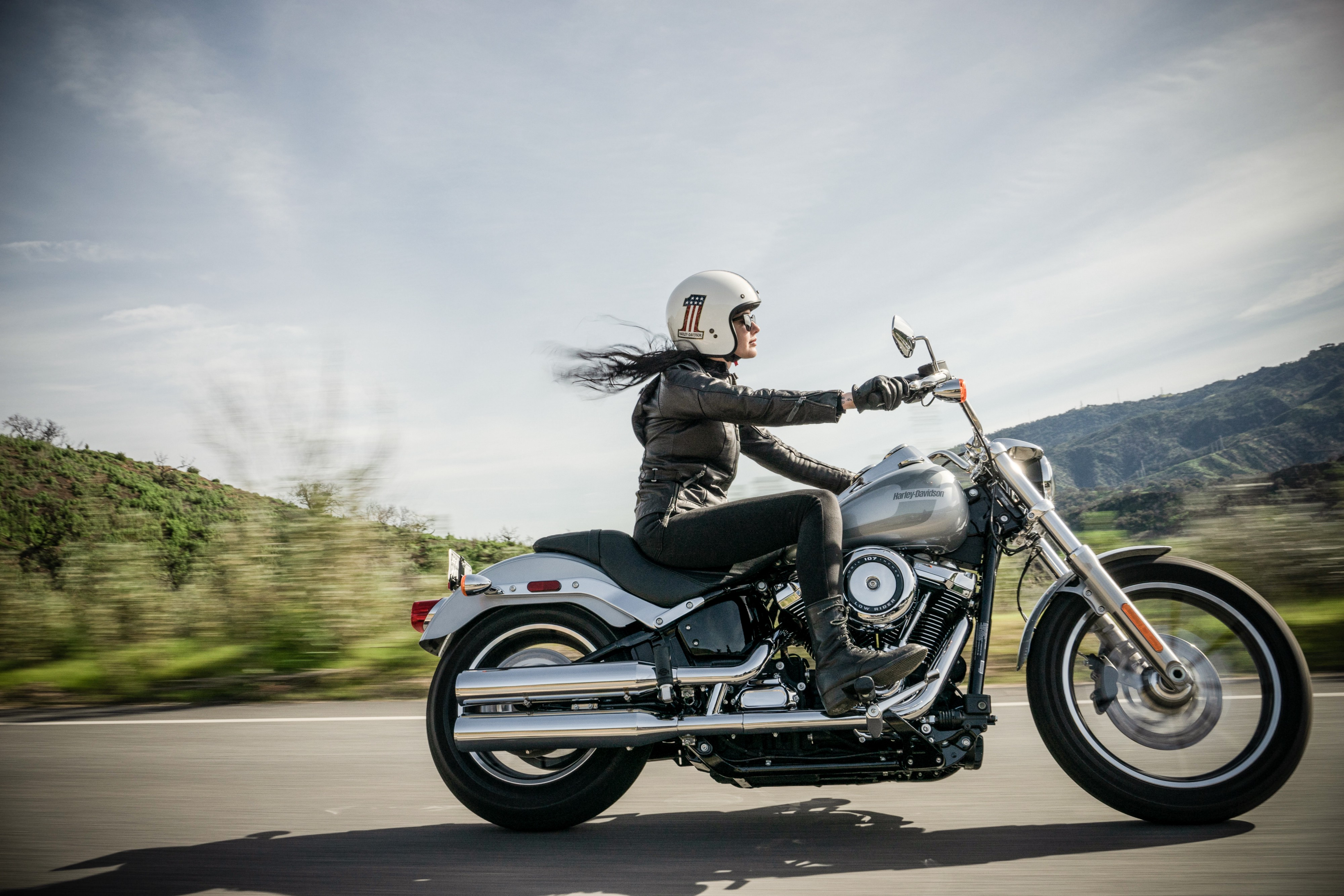 Harley-Davidson Motorcycle on the road