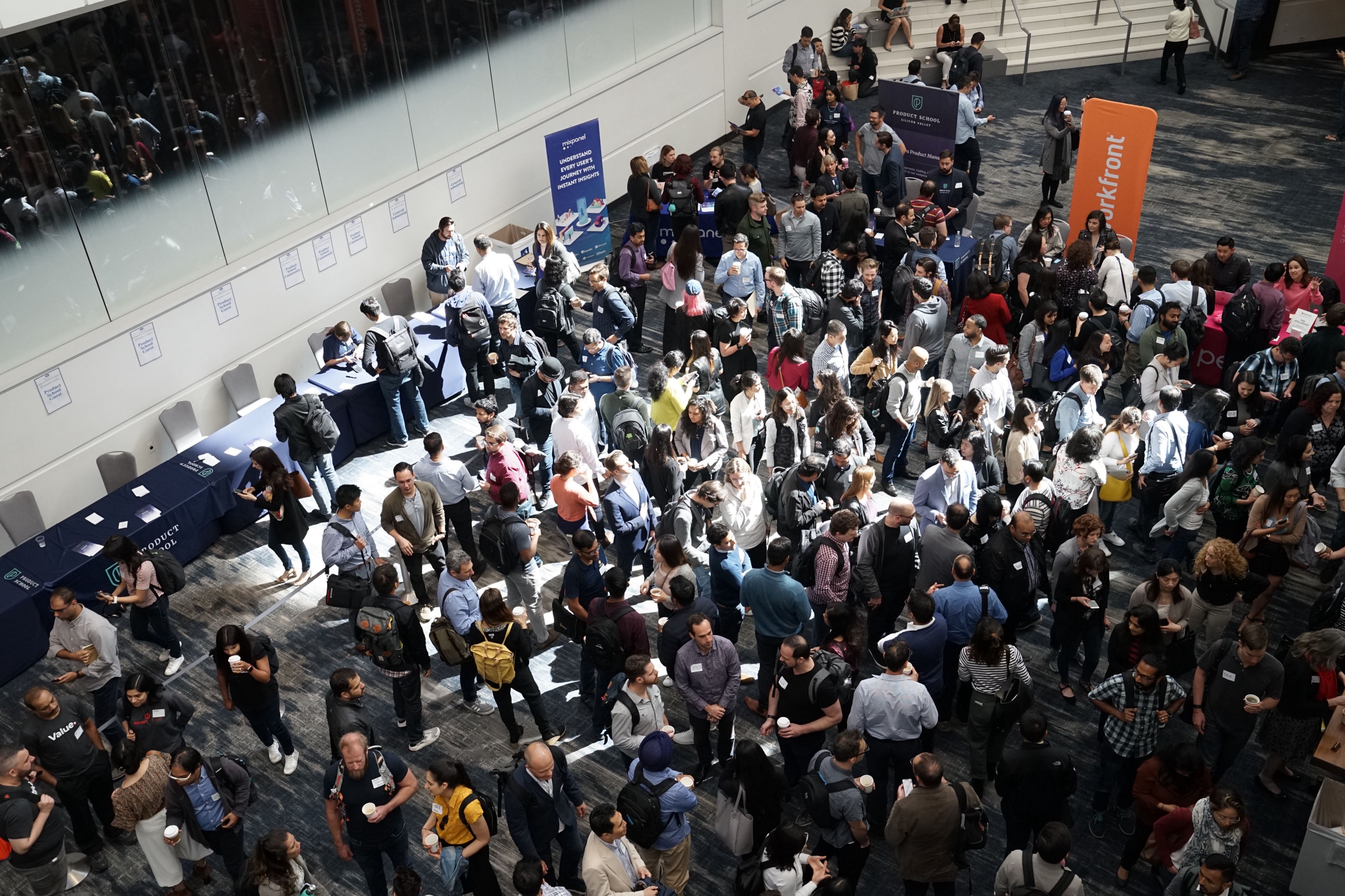 Photo of a crowd of people at a convention