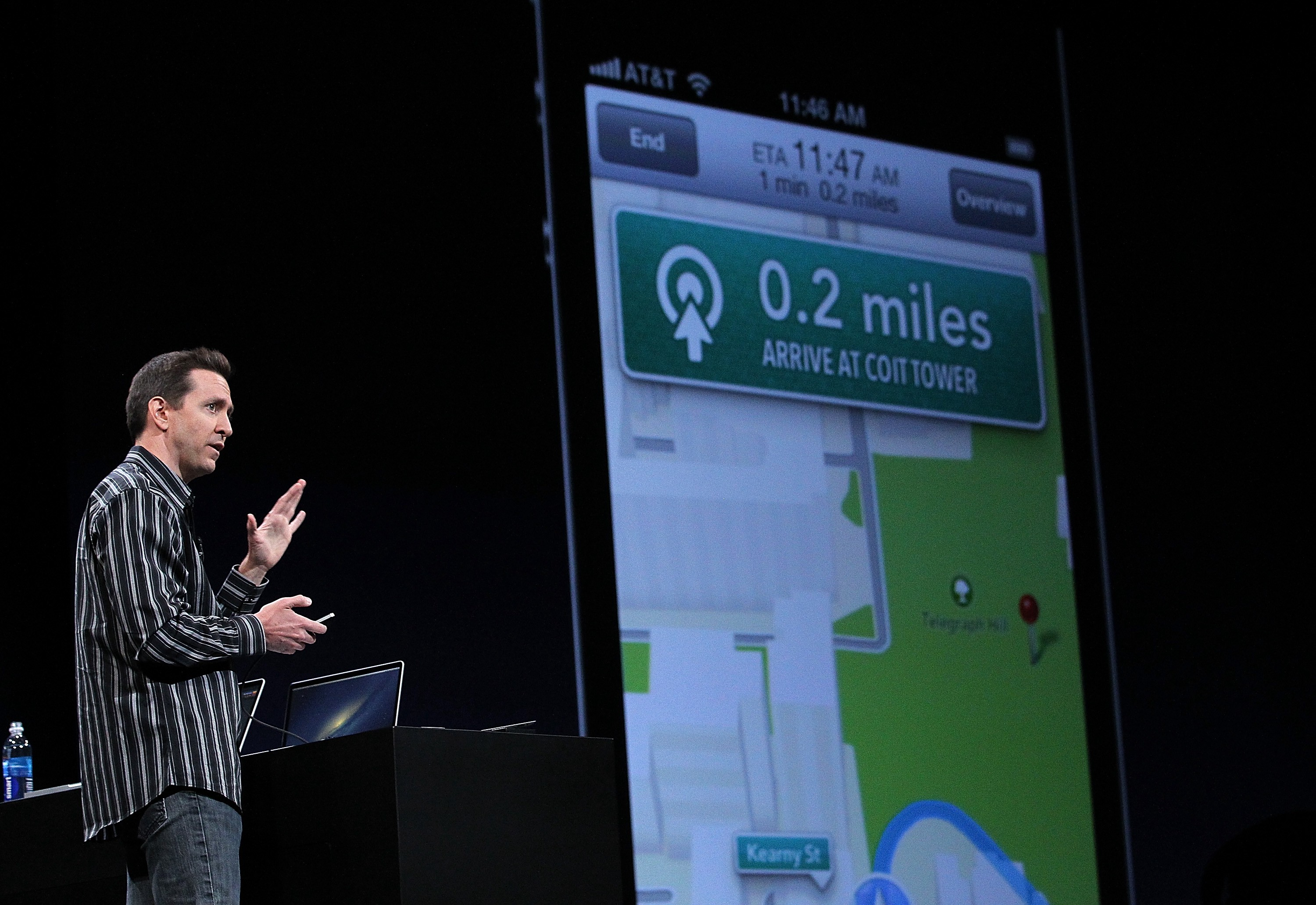 Scott Forstall unveiling Apple Maps during WWDC.