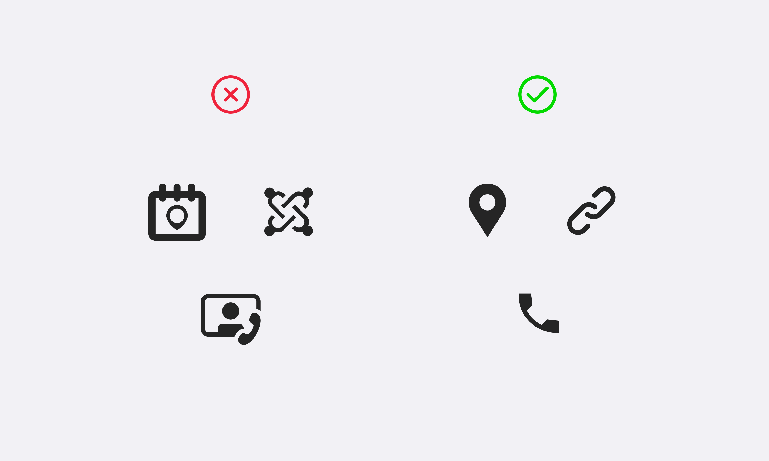 Using consistent and simple icons