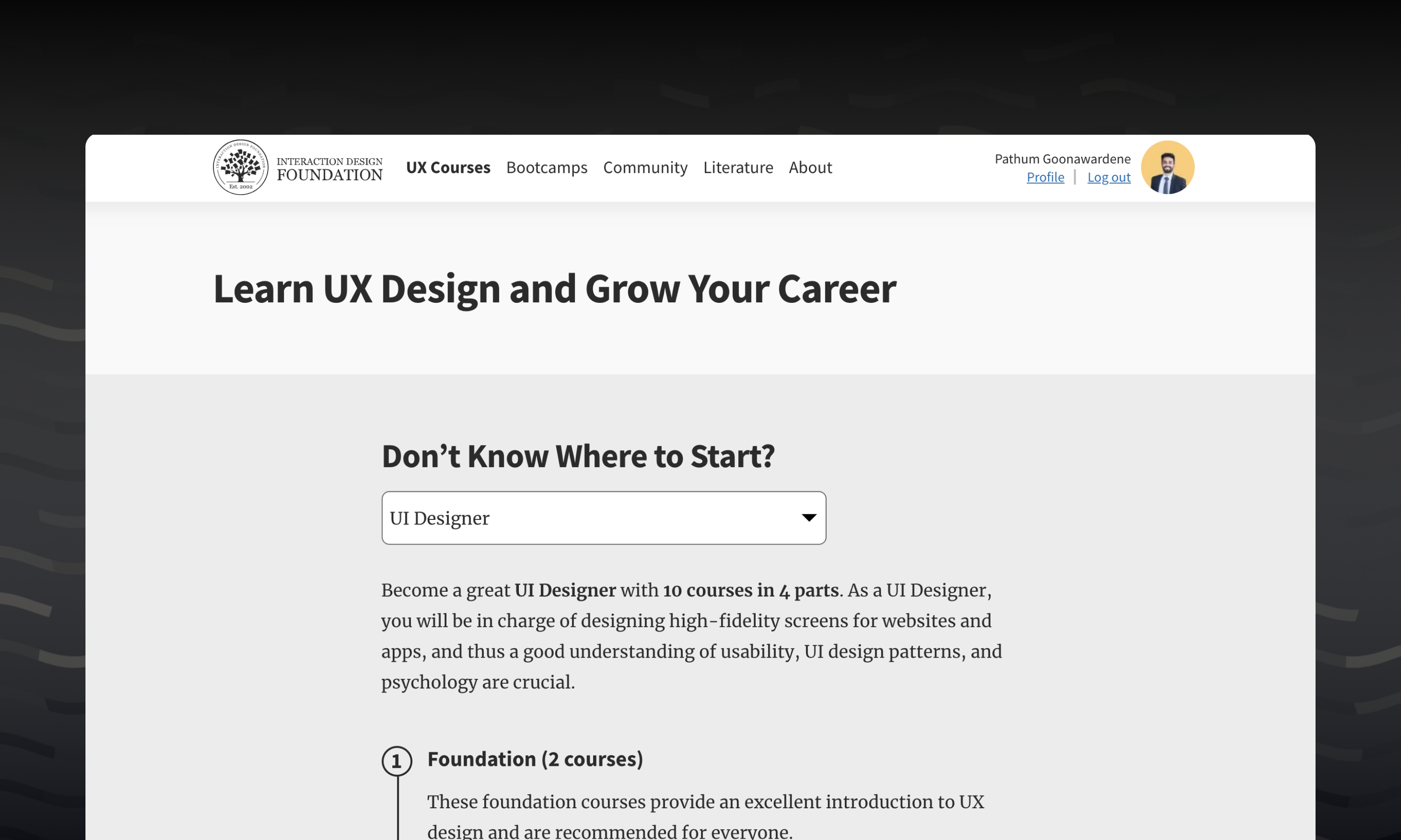 Career paths by IxDF