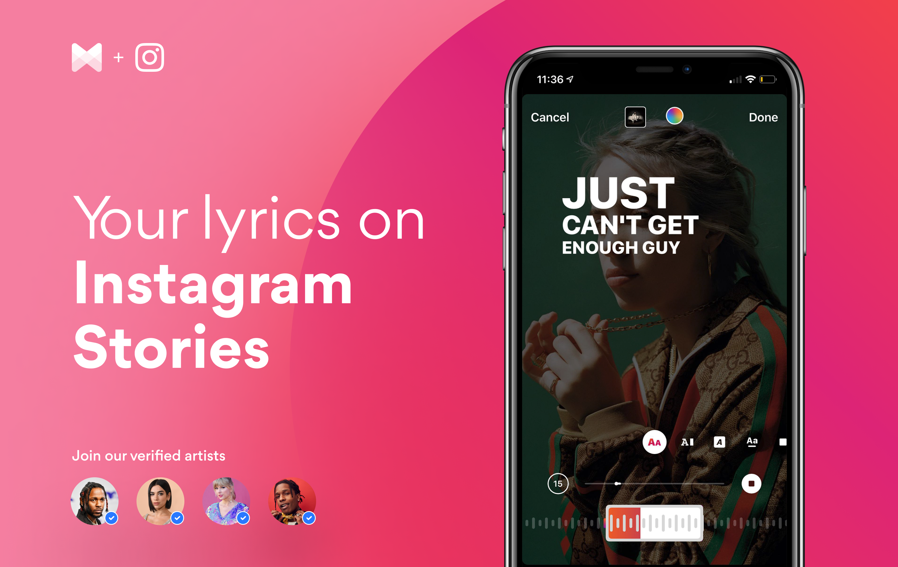 Musixmatch For Artists How To Add Song Lyrics To Your Instagram Story By Musixmatch Musixmatch Blog