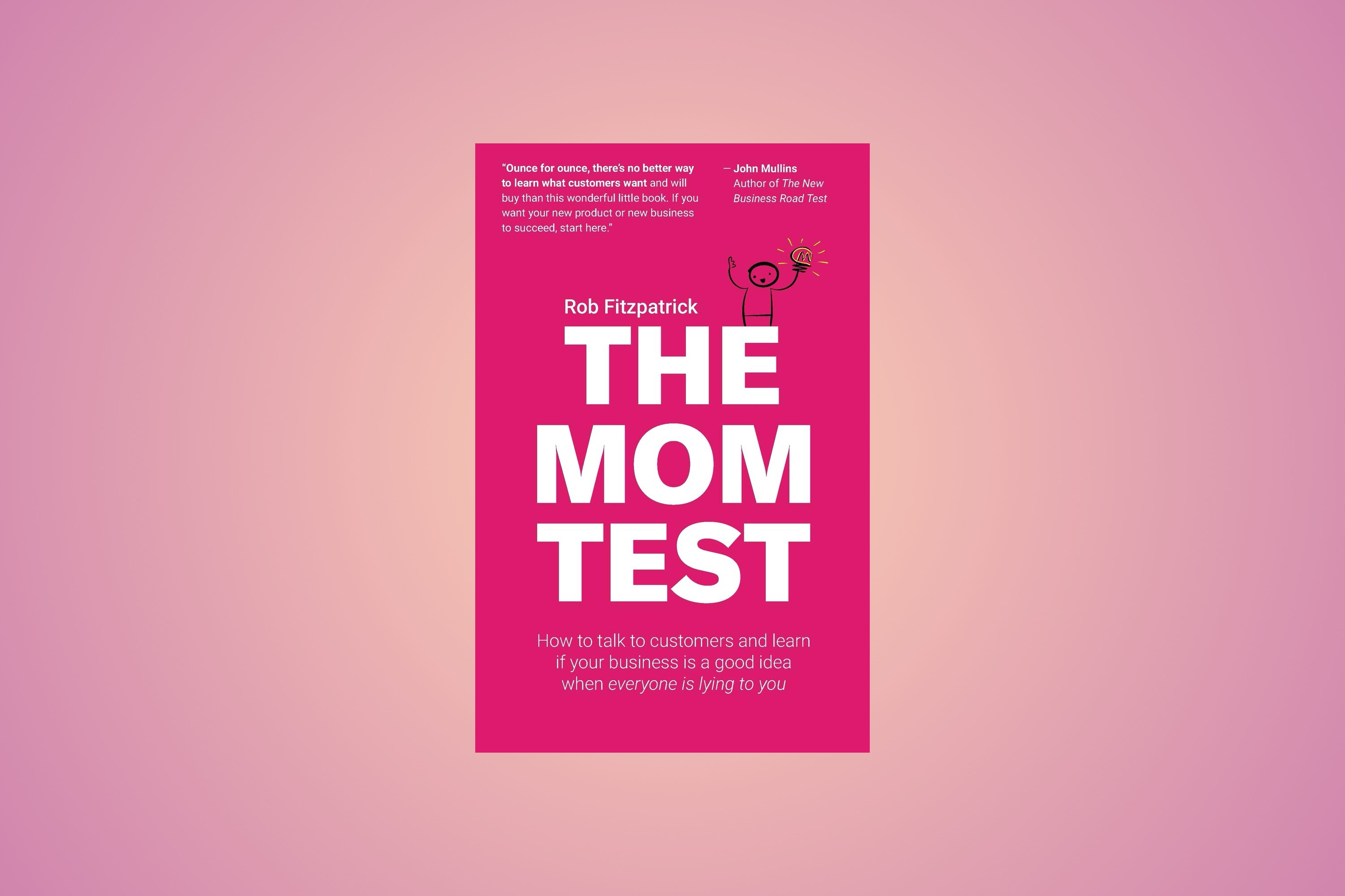Cover of The Mom Test book