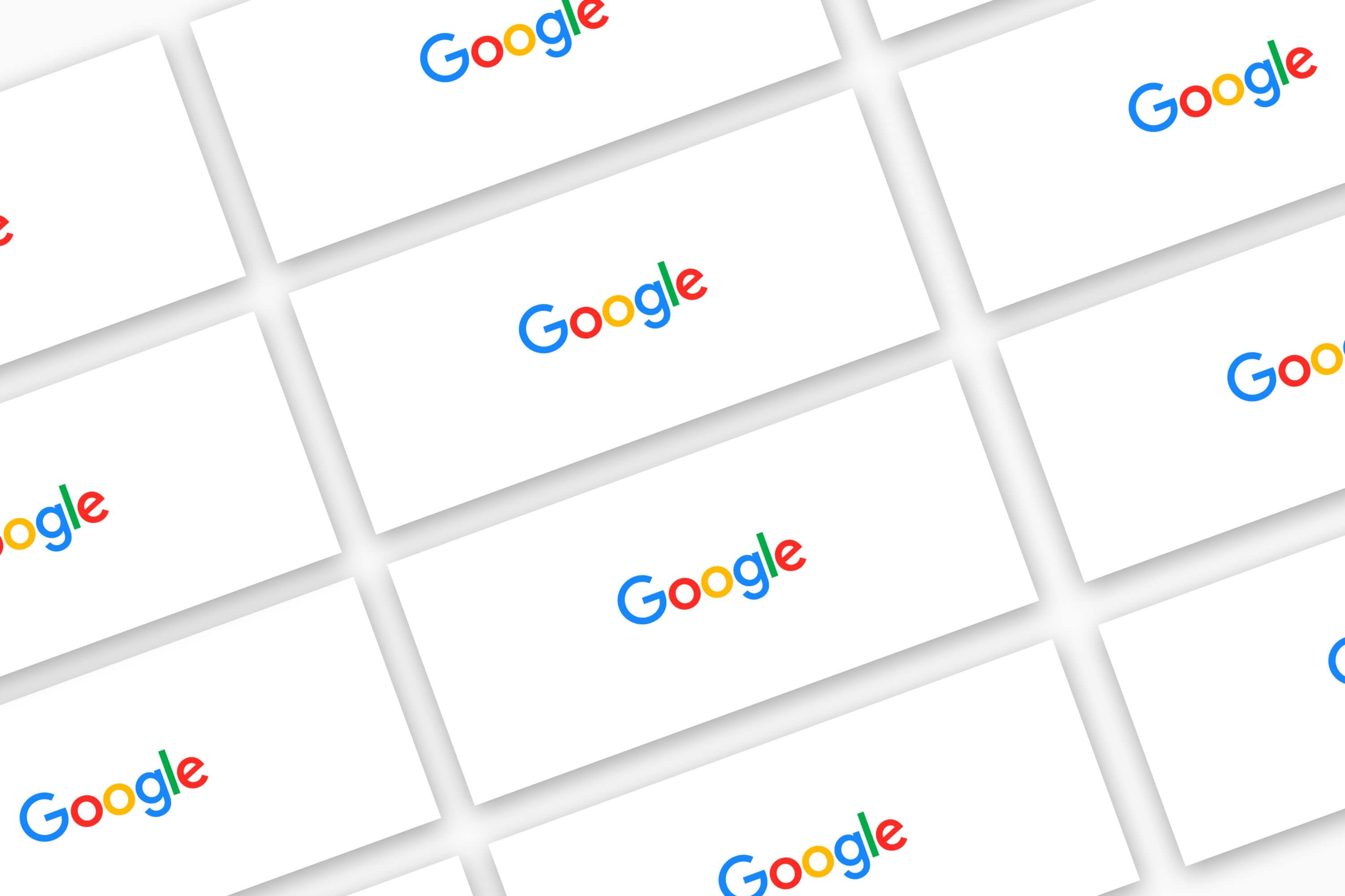 The Google logo repeated several times.