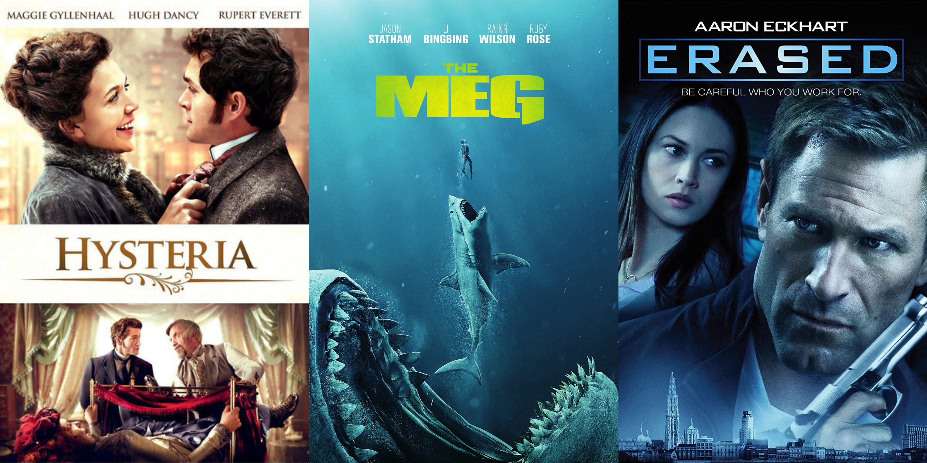 Films Ken Atchity has produced — Hysteria (Maggie Gyllenhaal), The MEG (Jason Statham), Erased (Aaron Eckhart)
