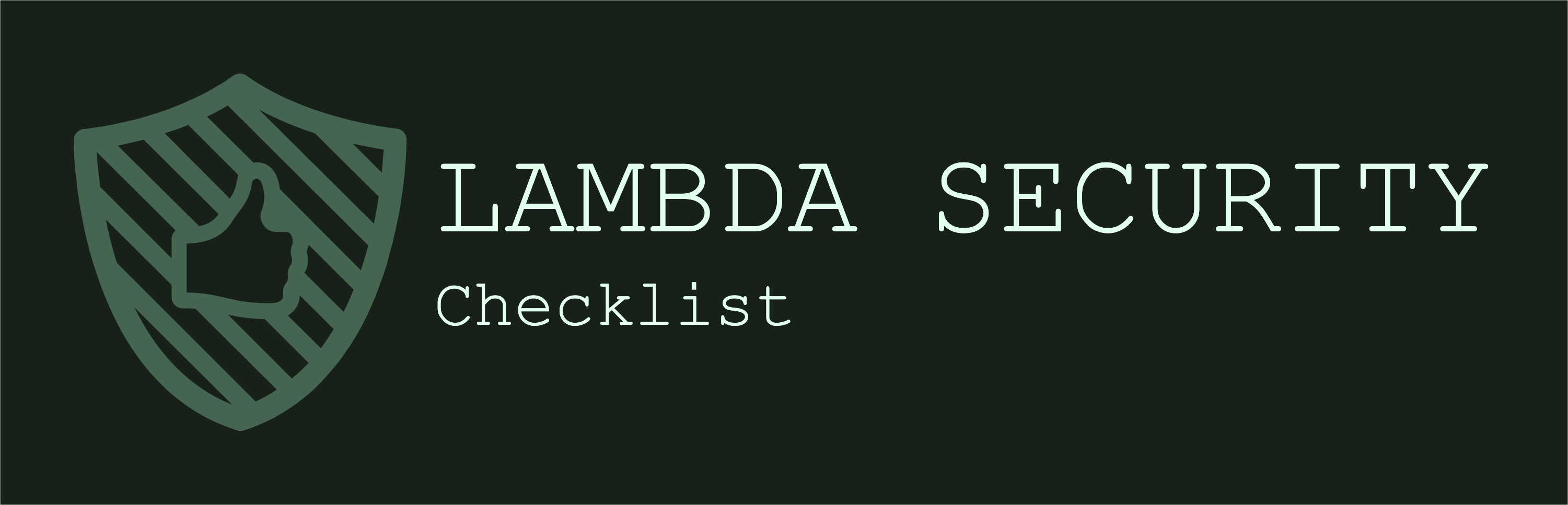 Lambda Security Checklist