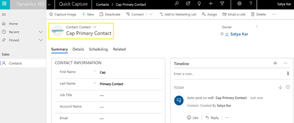 Dynamics 365 Model-Driven app — Capture entity image using