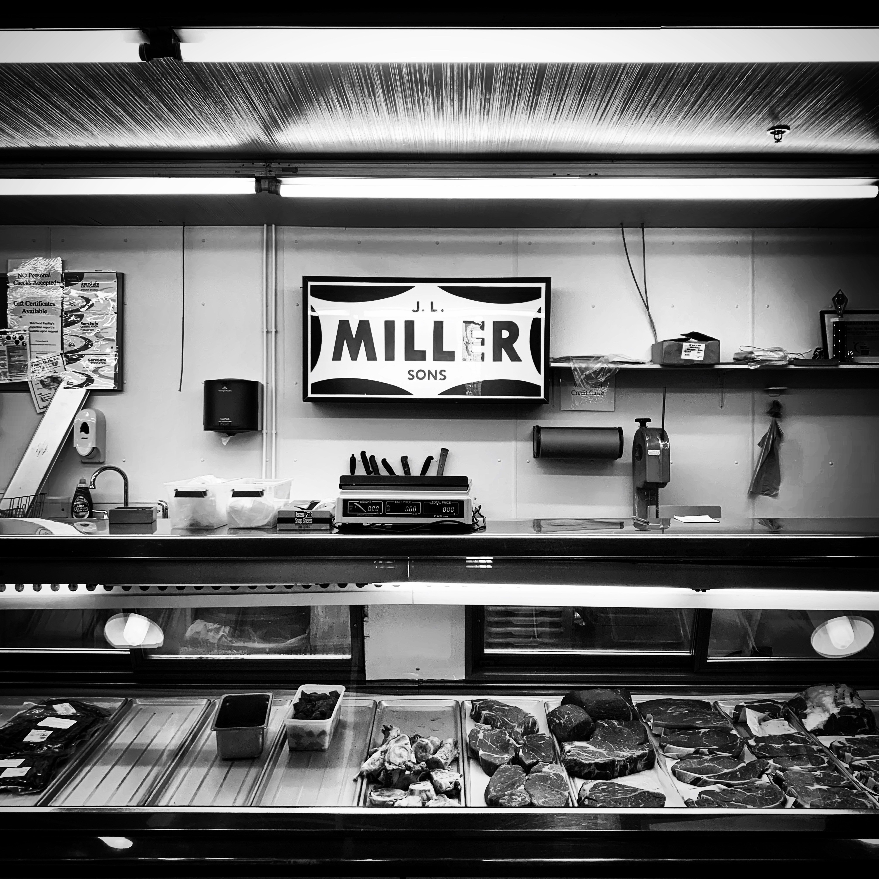 A meat counter