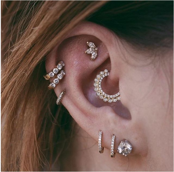 The Best Inner Lobe Piercing Inspiration You Need By Jewellery Diaries Medium