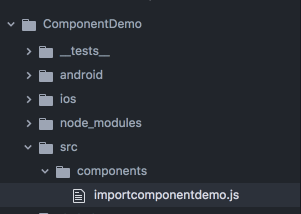 Create, export and import components in React Native (vs JAVA)