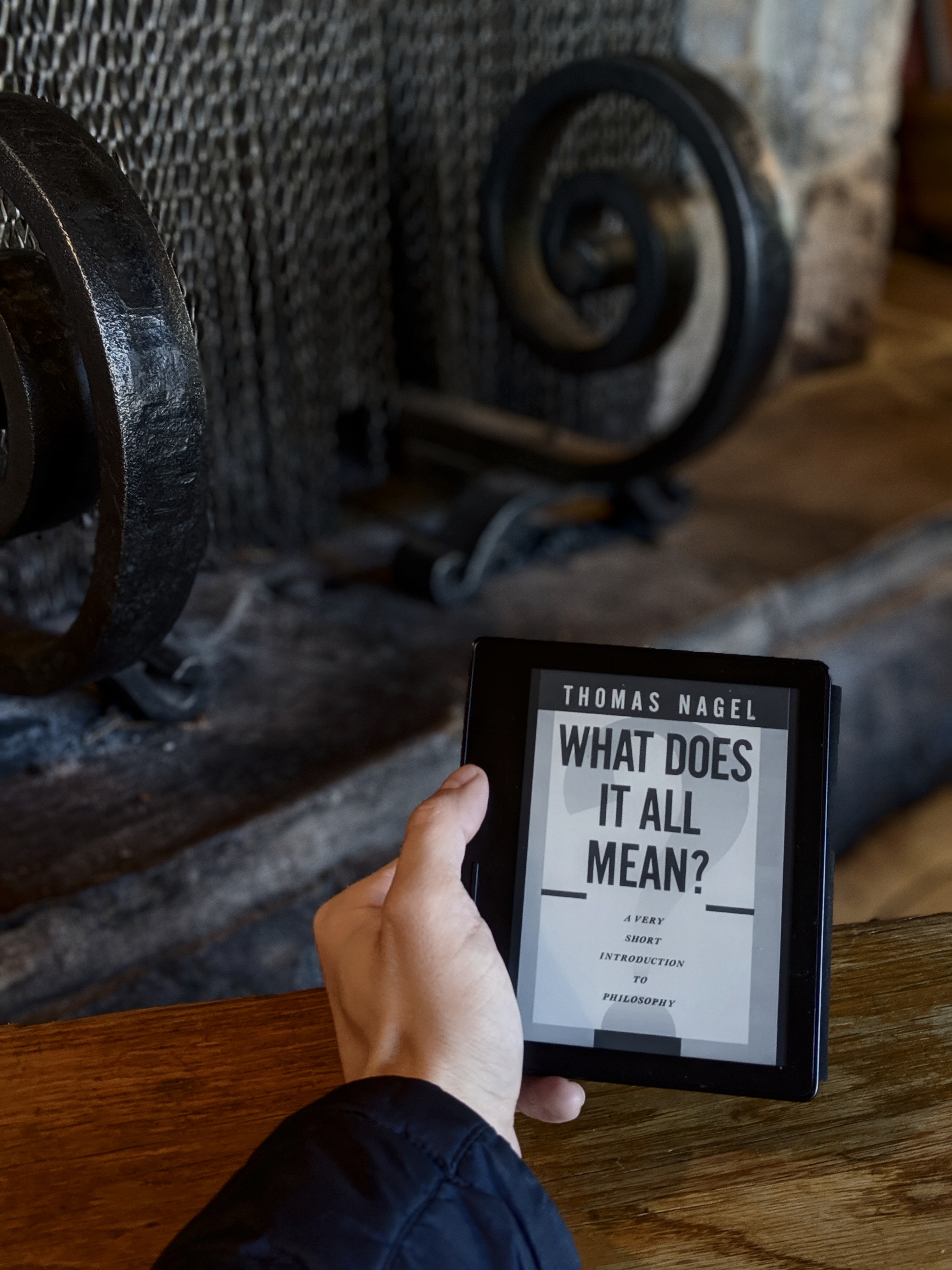Hand with book: What does it all mean?