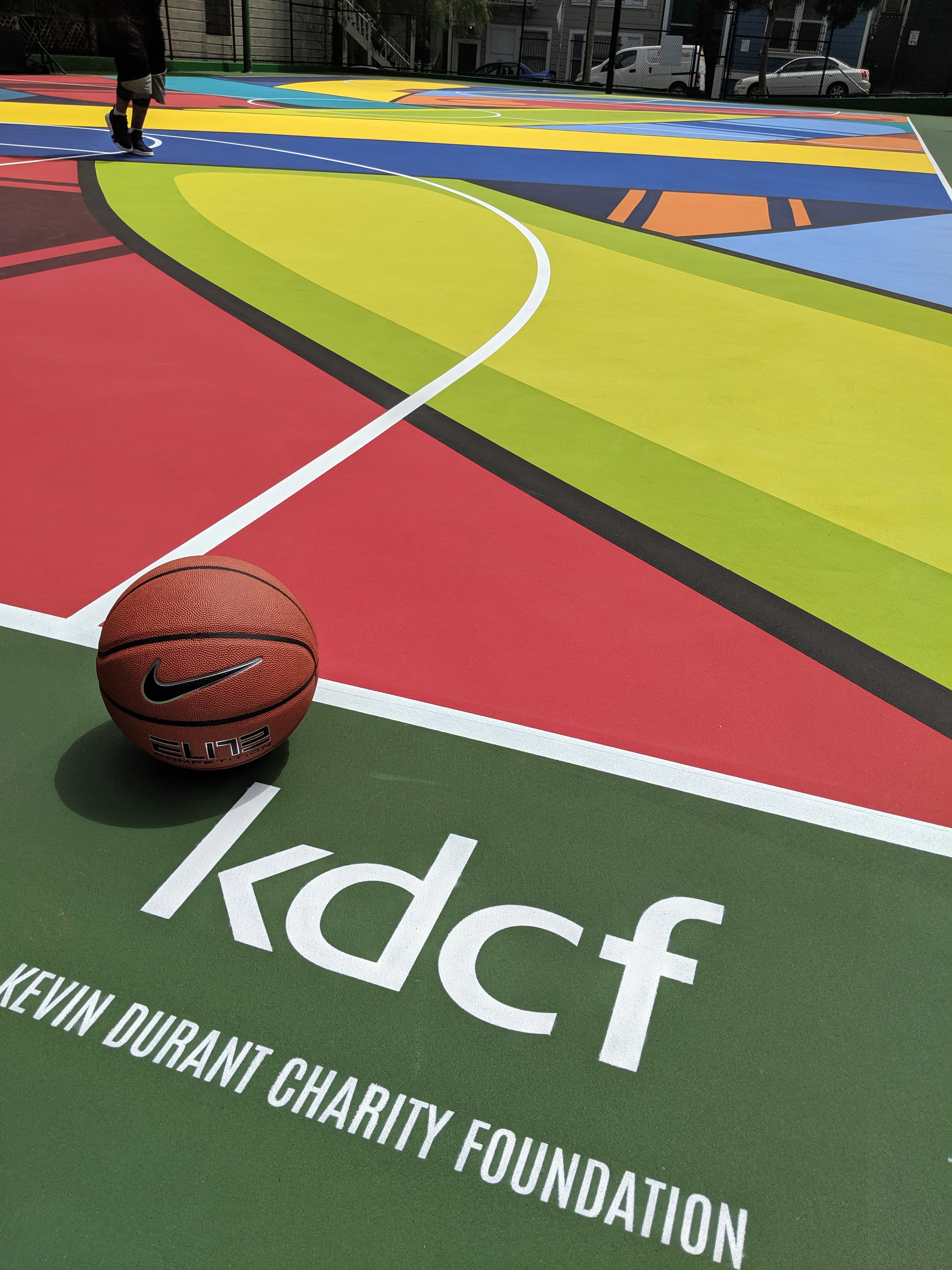 The court made possible by the Kevin Durant Charity Foundation