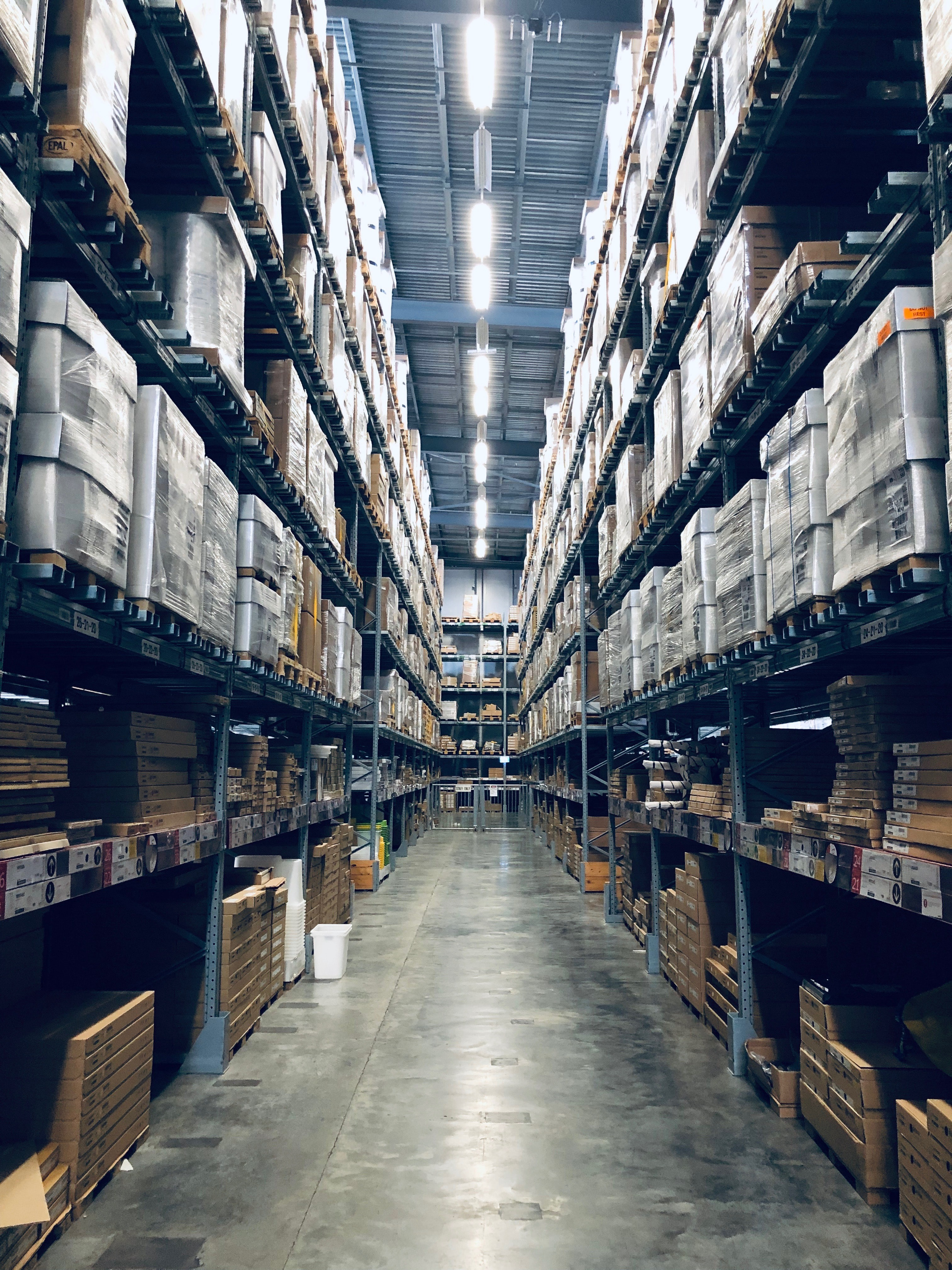 Warehouse with spotless floors.