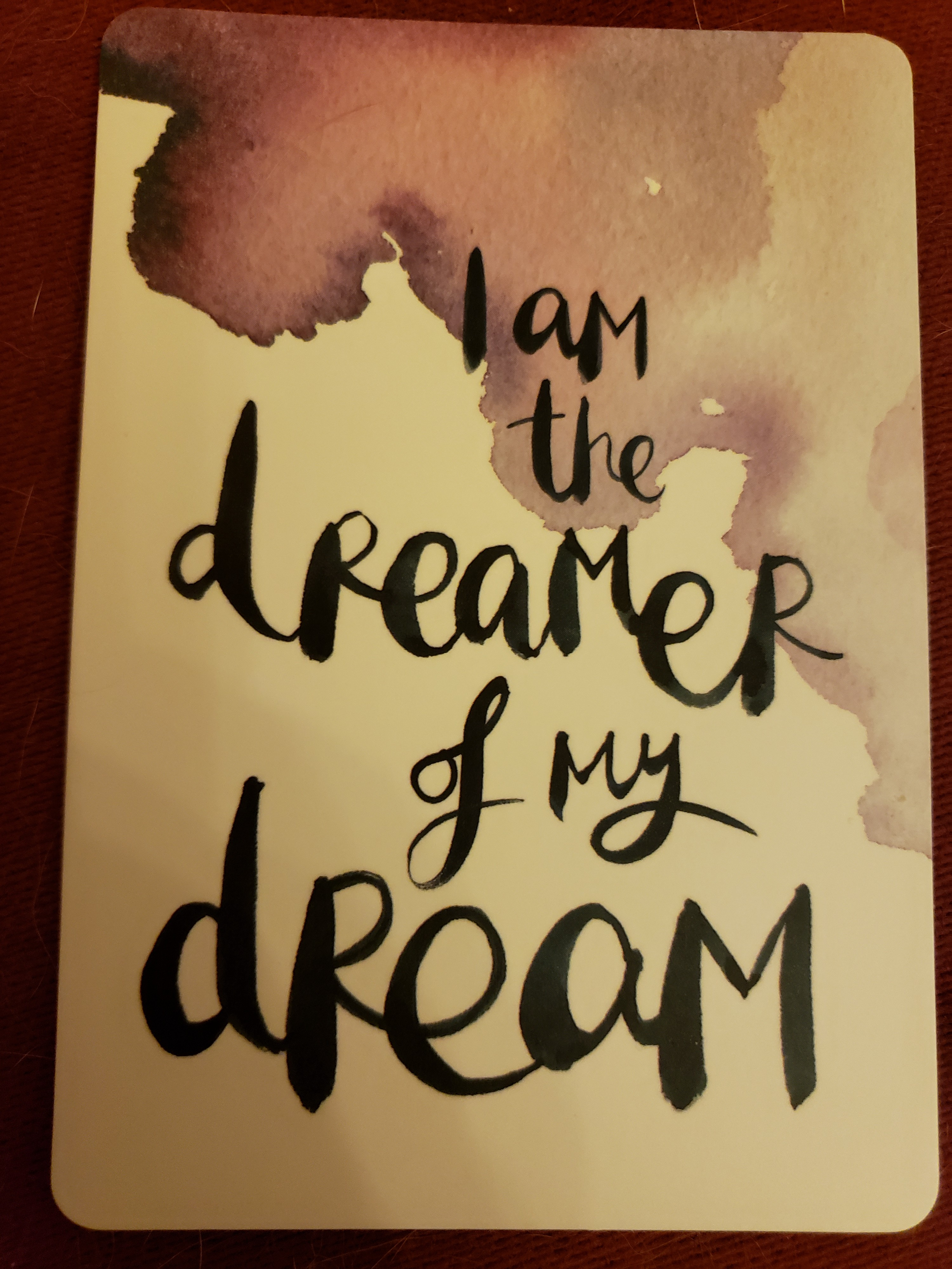 I am the dreamer of my dream