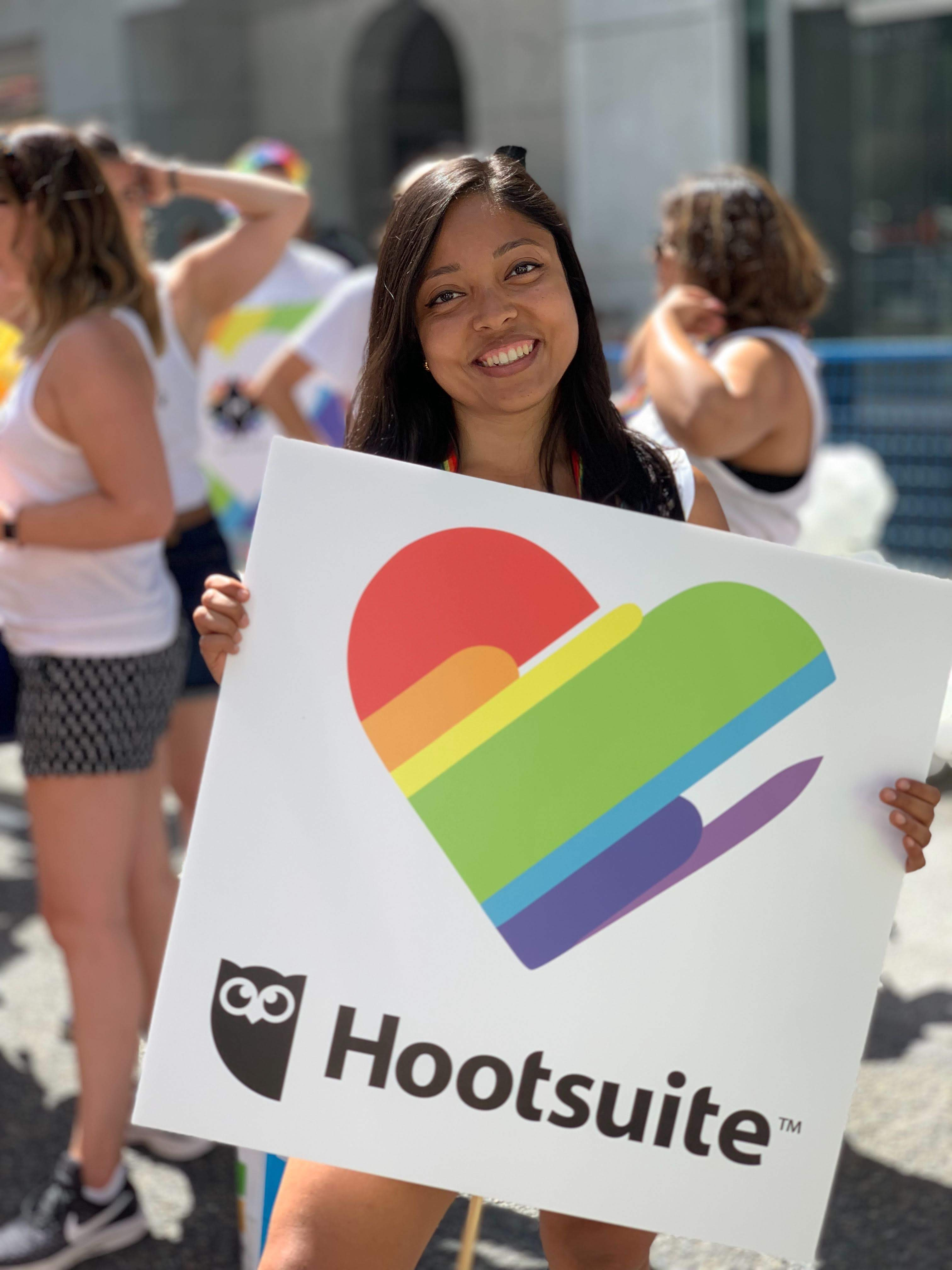 Repping Hootsuite at the Pride Parade