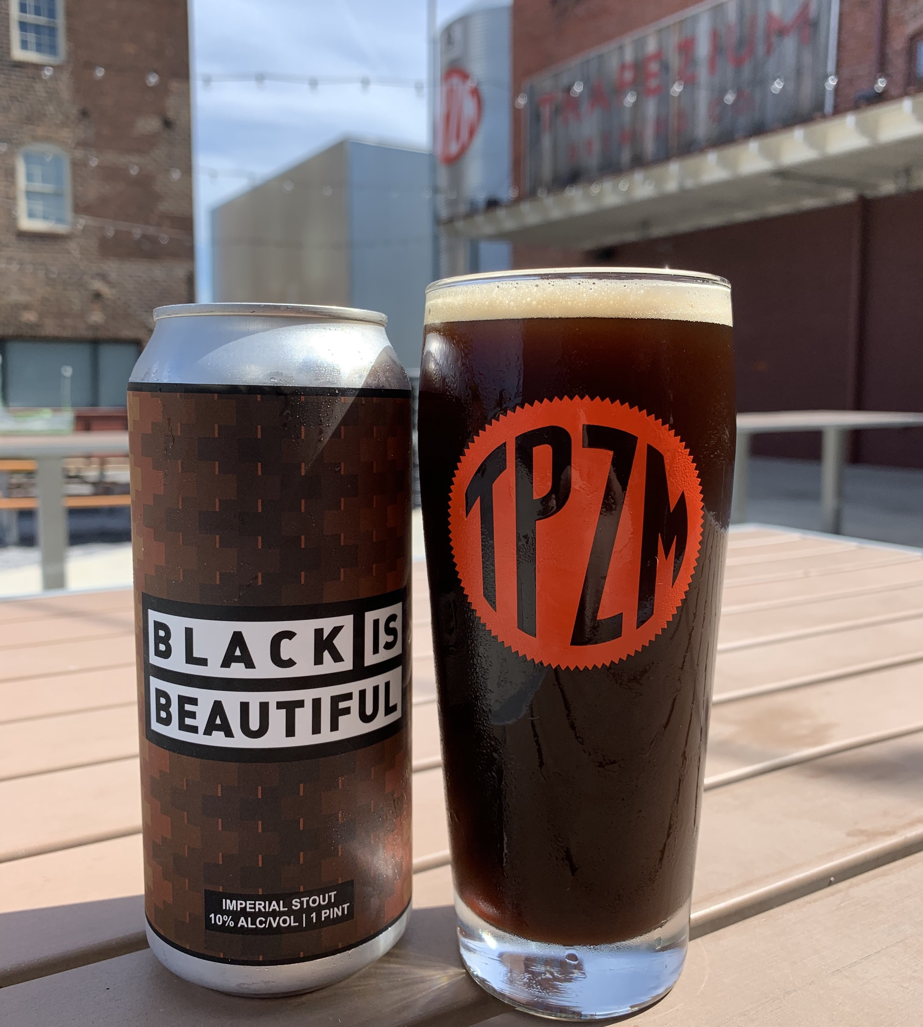 Black Is Beautiful beer from Trapezium Brewing