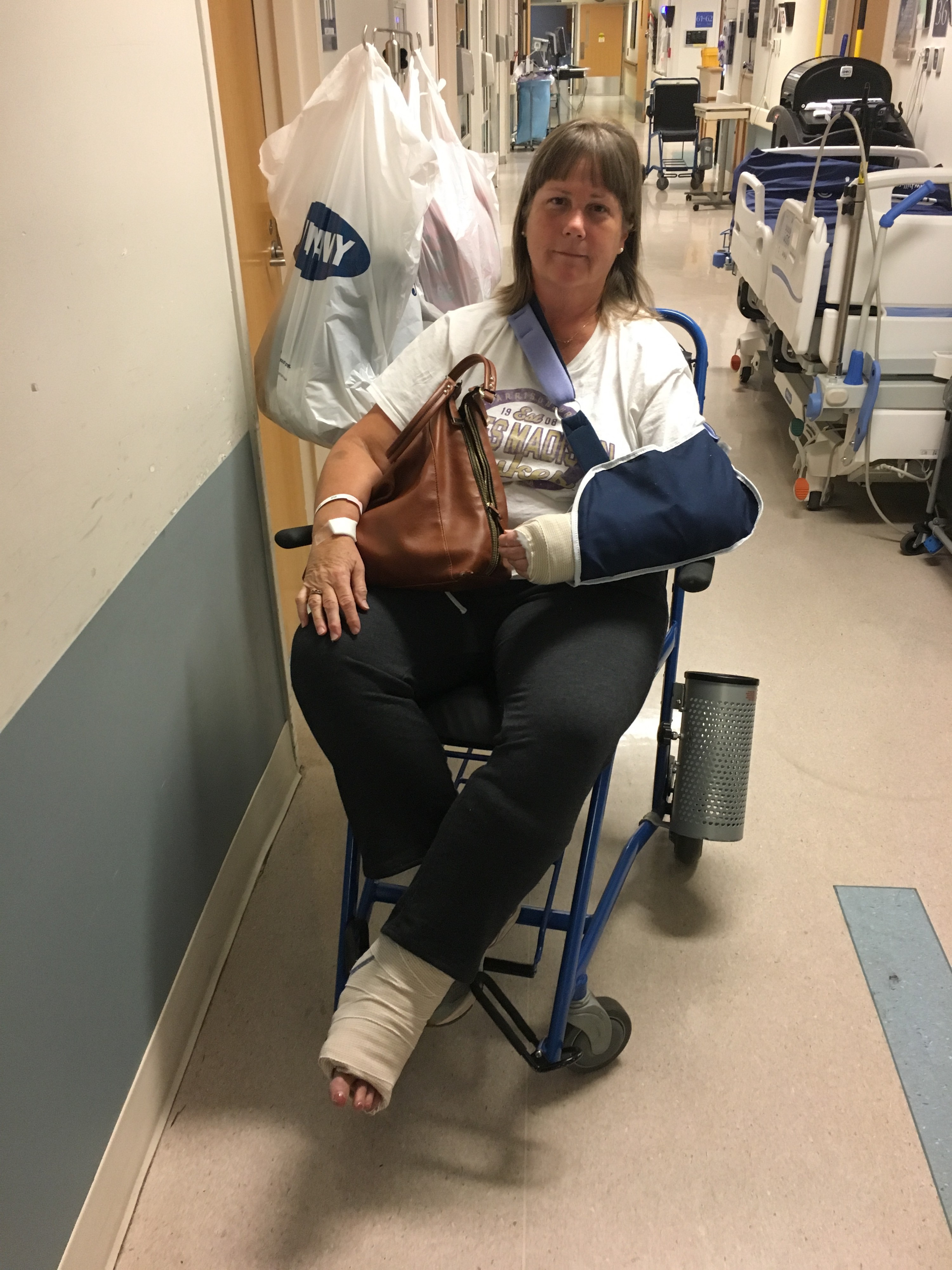 Interview #8: Bonnie Downey (Broken Ankle and Wrist)