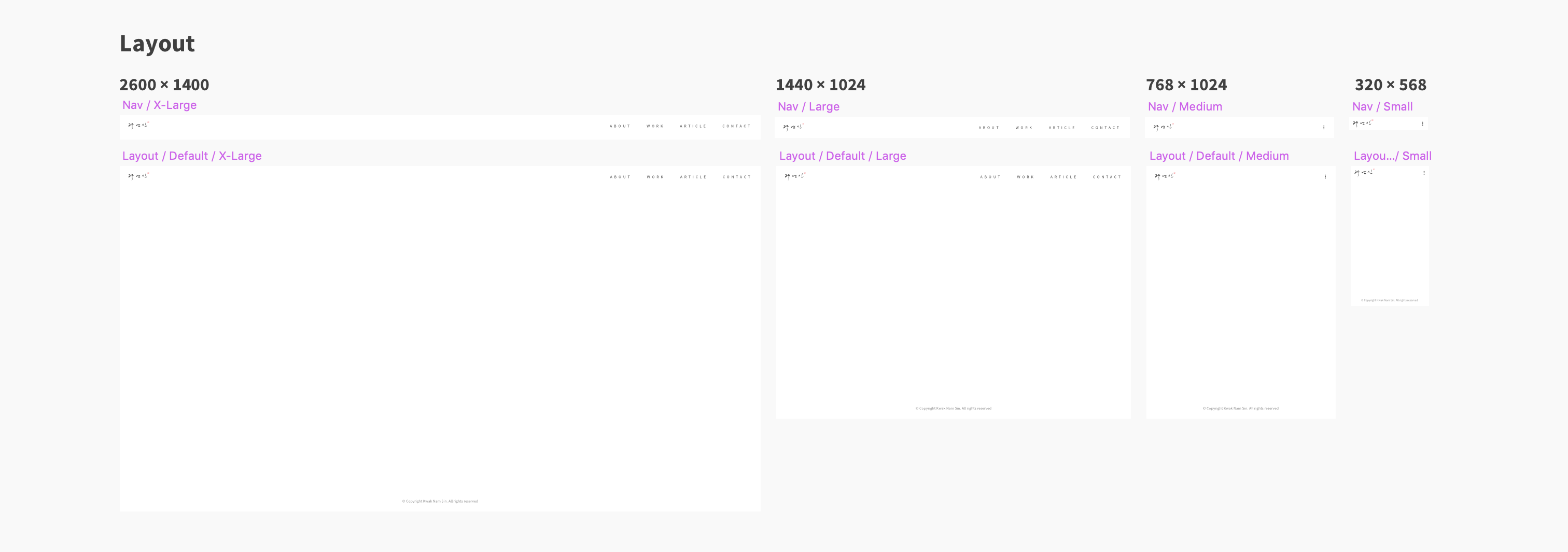Layout design for responsive website