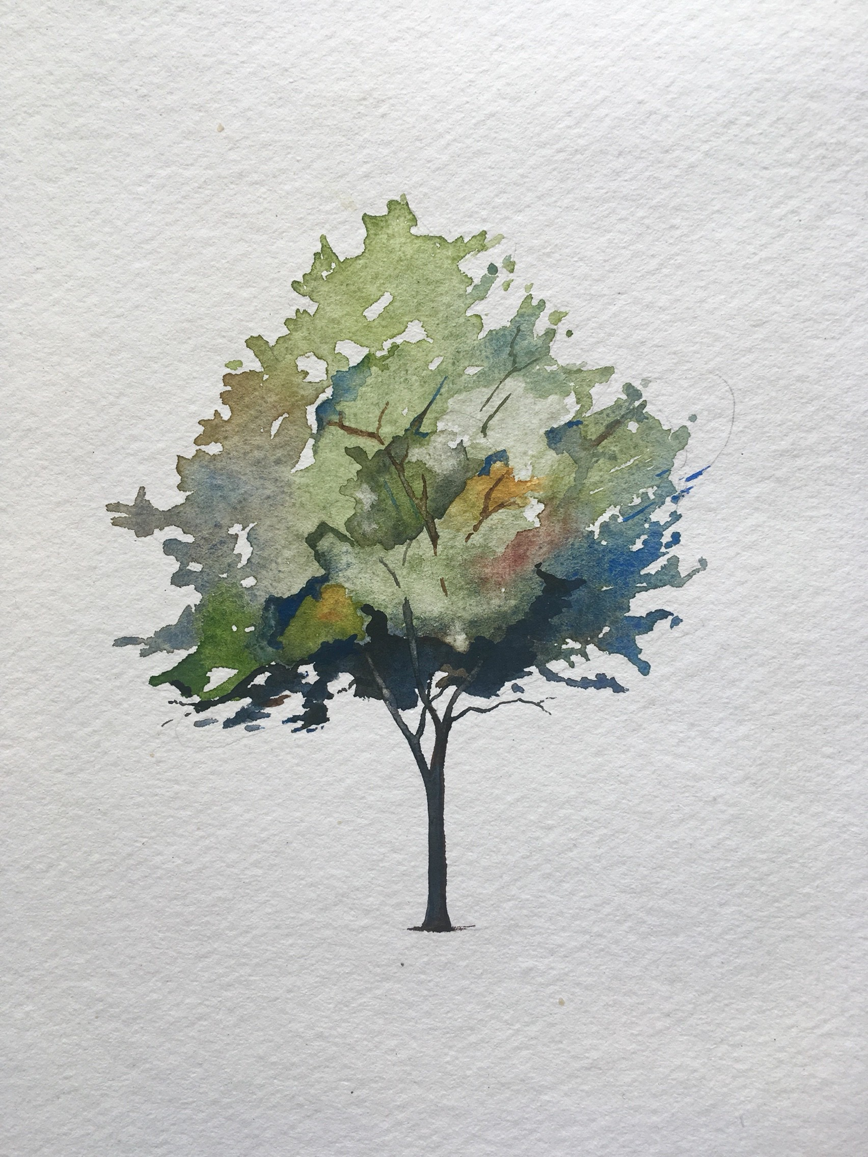 How To Paint A Tree In Watercolors By Christopher P Jones The Startup Medium