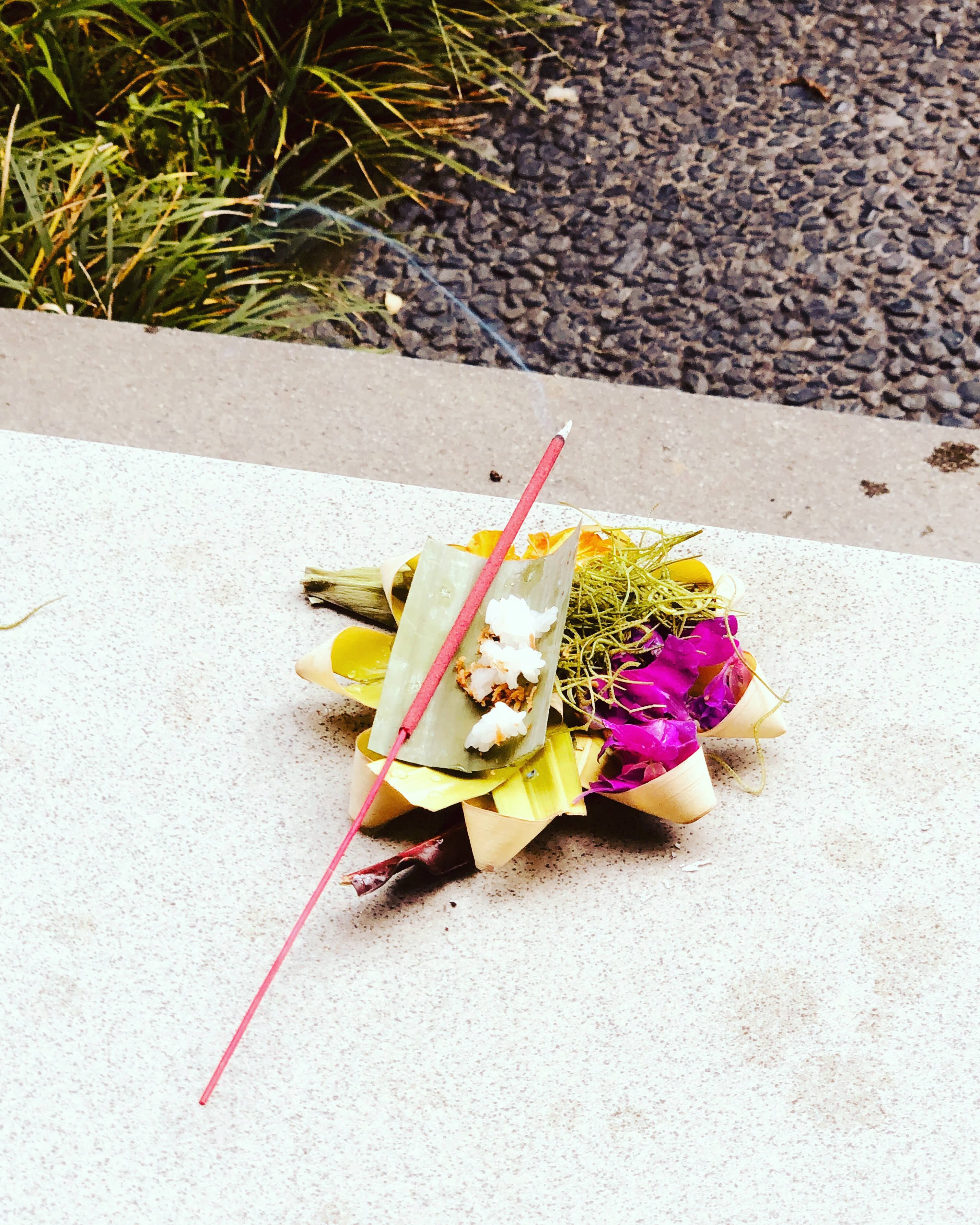 Canang sari -one of the daily offerings made by Balinese Hindus to thank the Gods