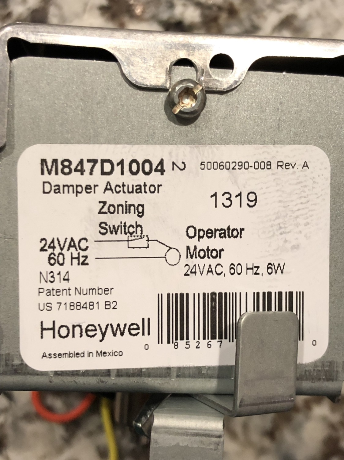 How To Swap Out An Hvac Damper Actuator Yourself  U2014 Honeywell M847d
