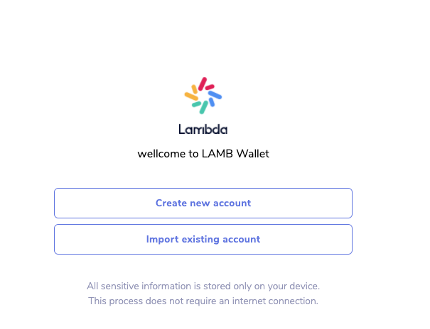 LAMB Chrome extension wallet will release soon