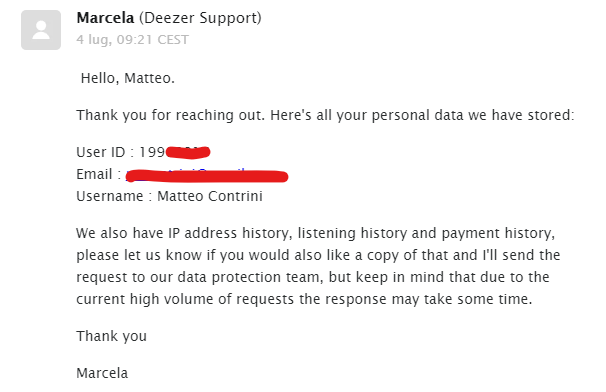 How a Deezer data export request took 11 months - Matteo