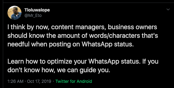 How To Optimize Your Whatsapp Statuswithout Beads Eto