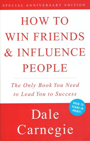 """The front cover of Dale Carnegie's book """"How to win friends and influence people."""""""
