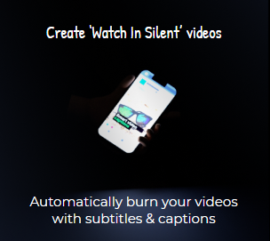 Burn caption directly to the video