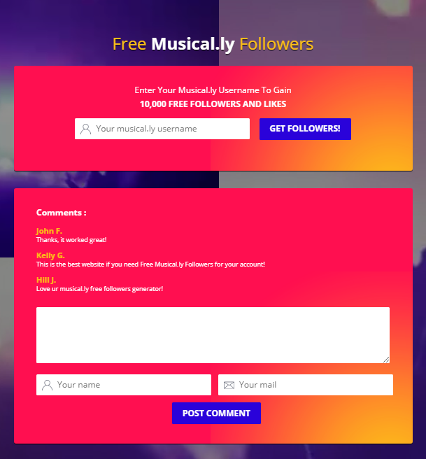 get free followers on musical ly