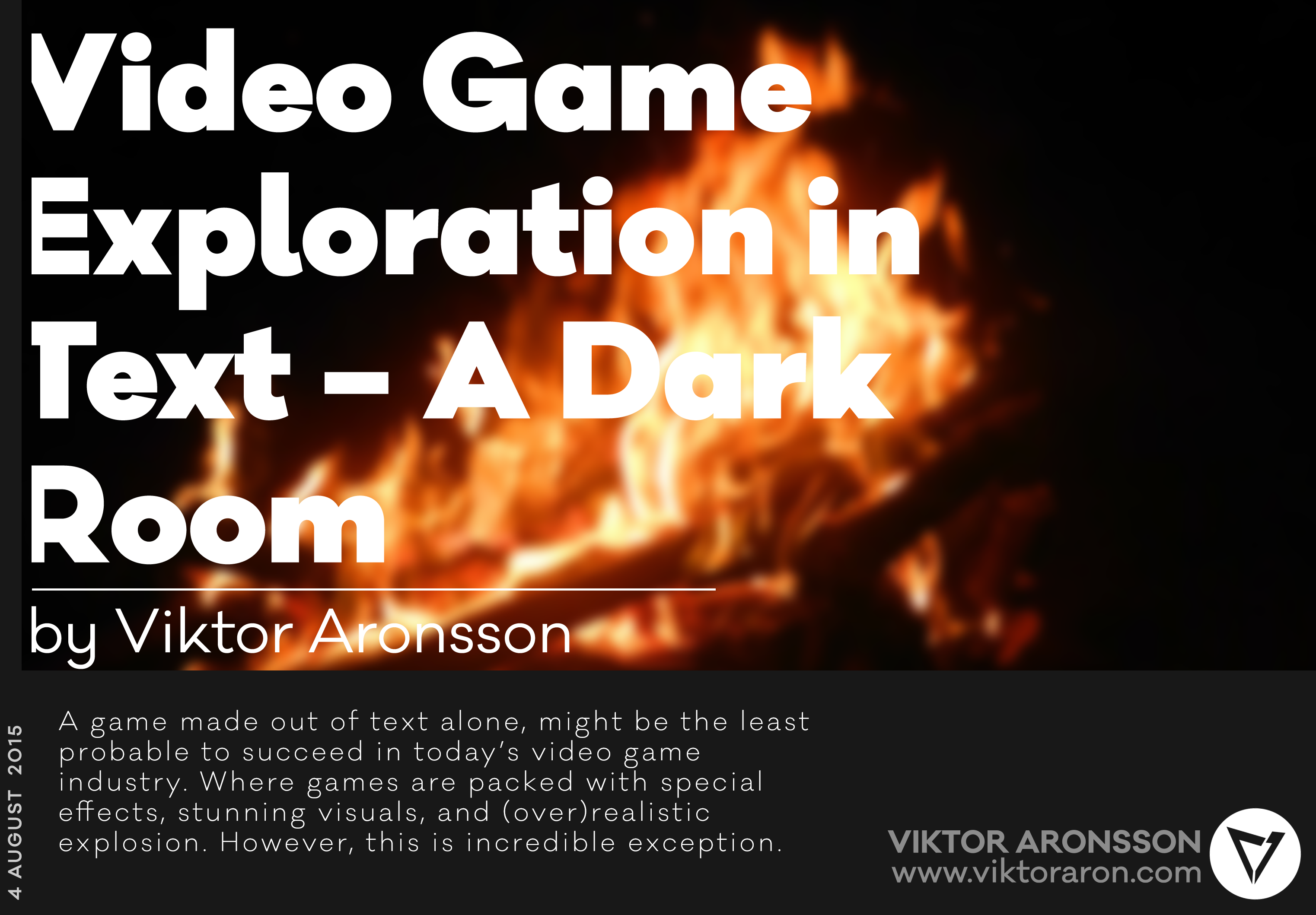 Video Game Exploration In Text A Dark Room By Viktor Aronsson