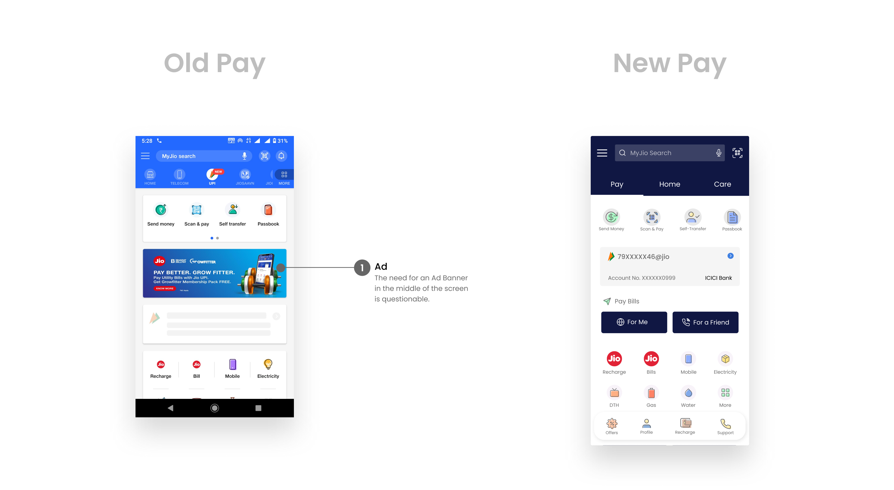 Pay Screen redesign