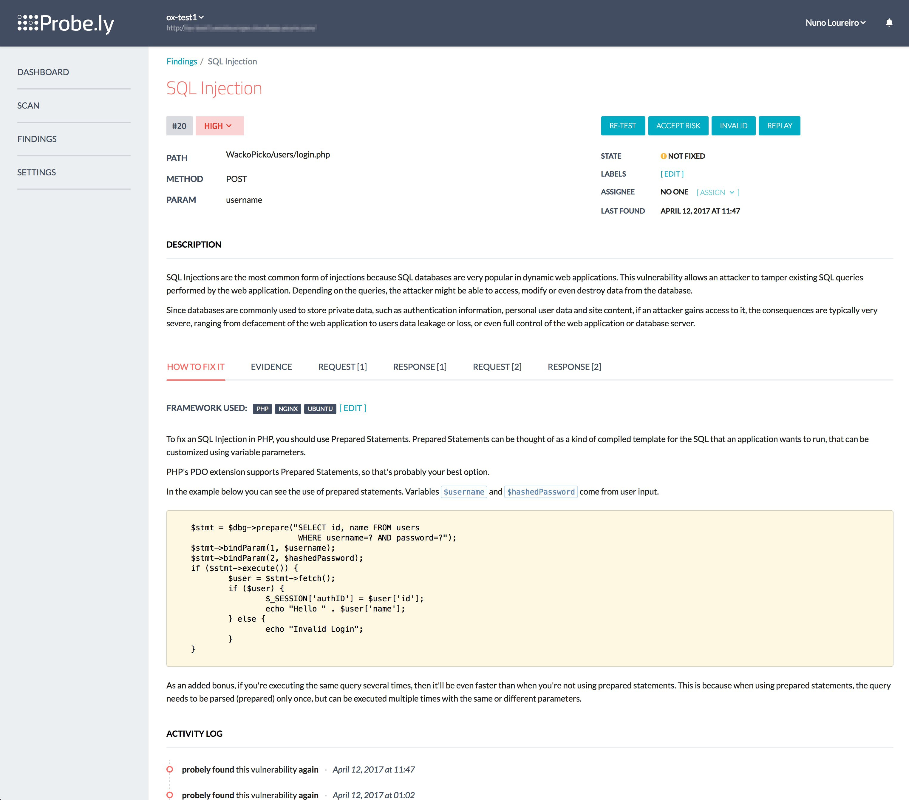 Integrating Web Vulnerability Scanners in Continuous