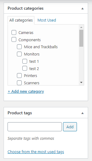 Adding categories, tags and images - How To Set Up WooCommerce