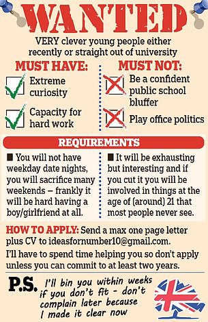 Wanted — Very clever young people — Image from Daily Mail