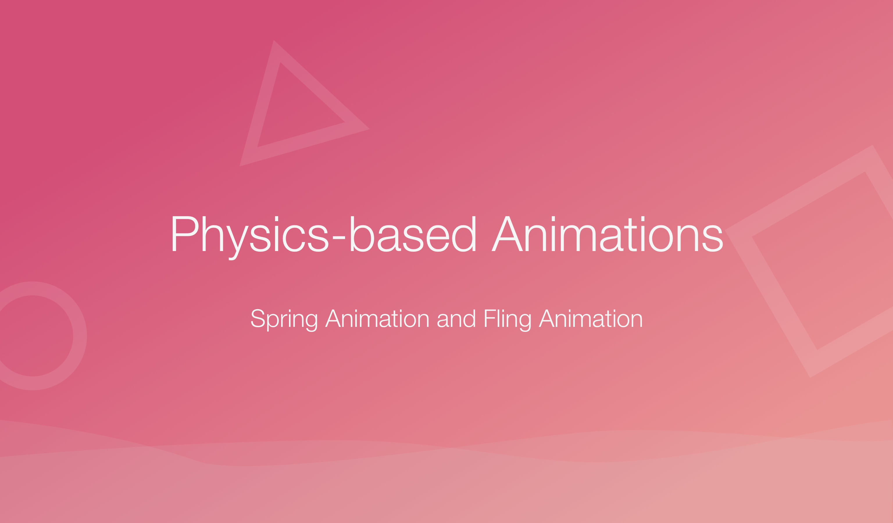 Physics for Animators