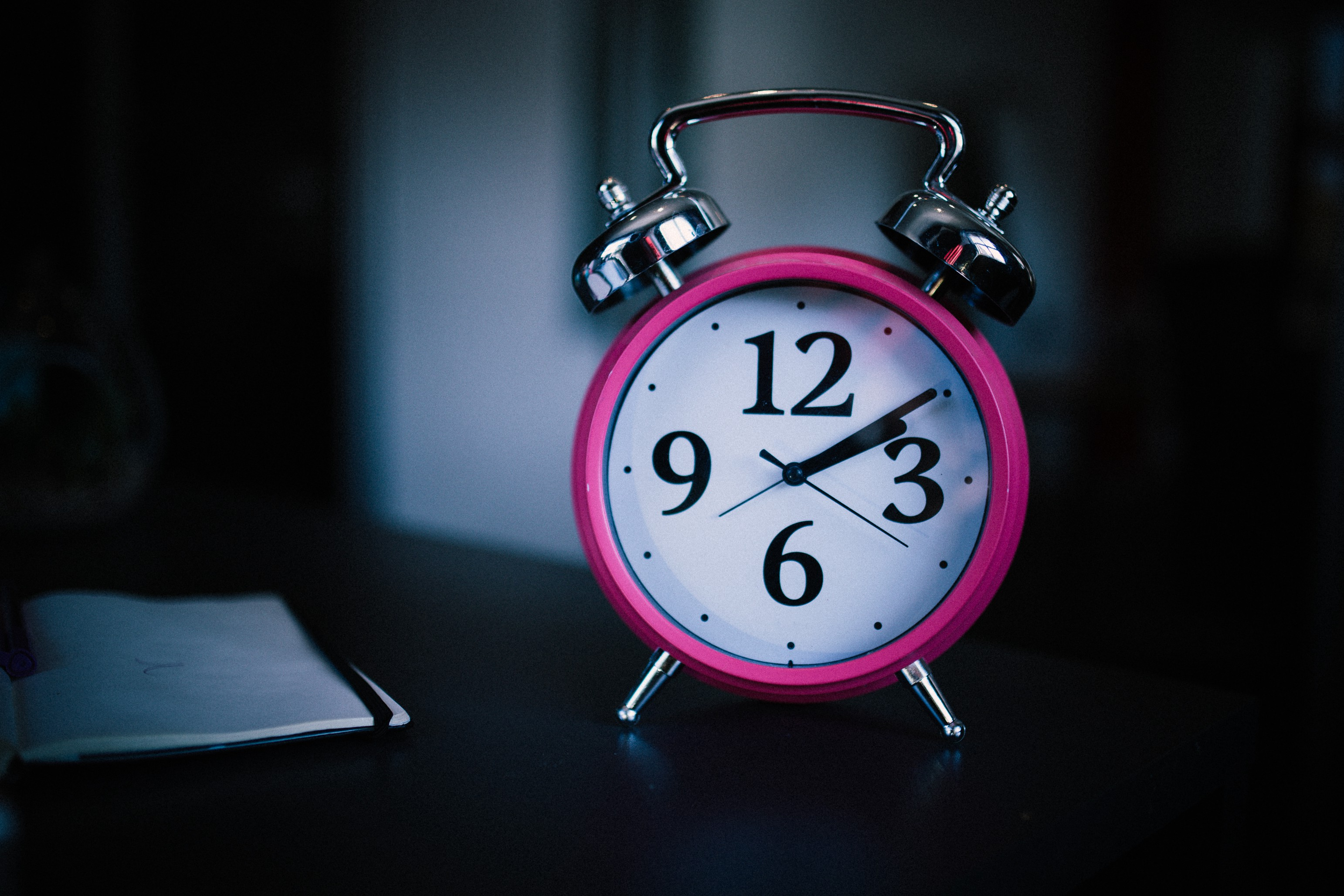An alarm clock helps set times for sleeping and waking