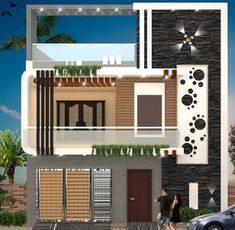 Best Home Front Design This Design Is The Home Front Design Of By Bharat Kishore Home Front Design Indian House Front Side Elevation House Front Design Medium