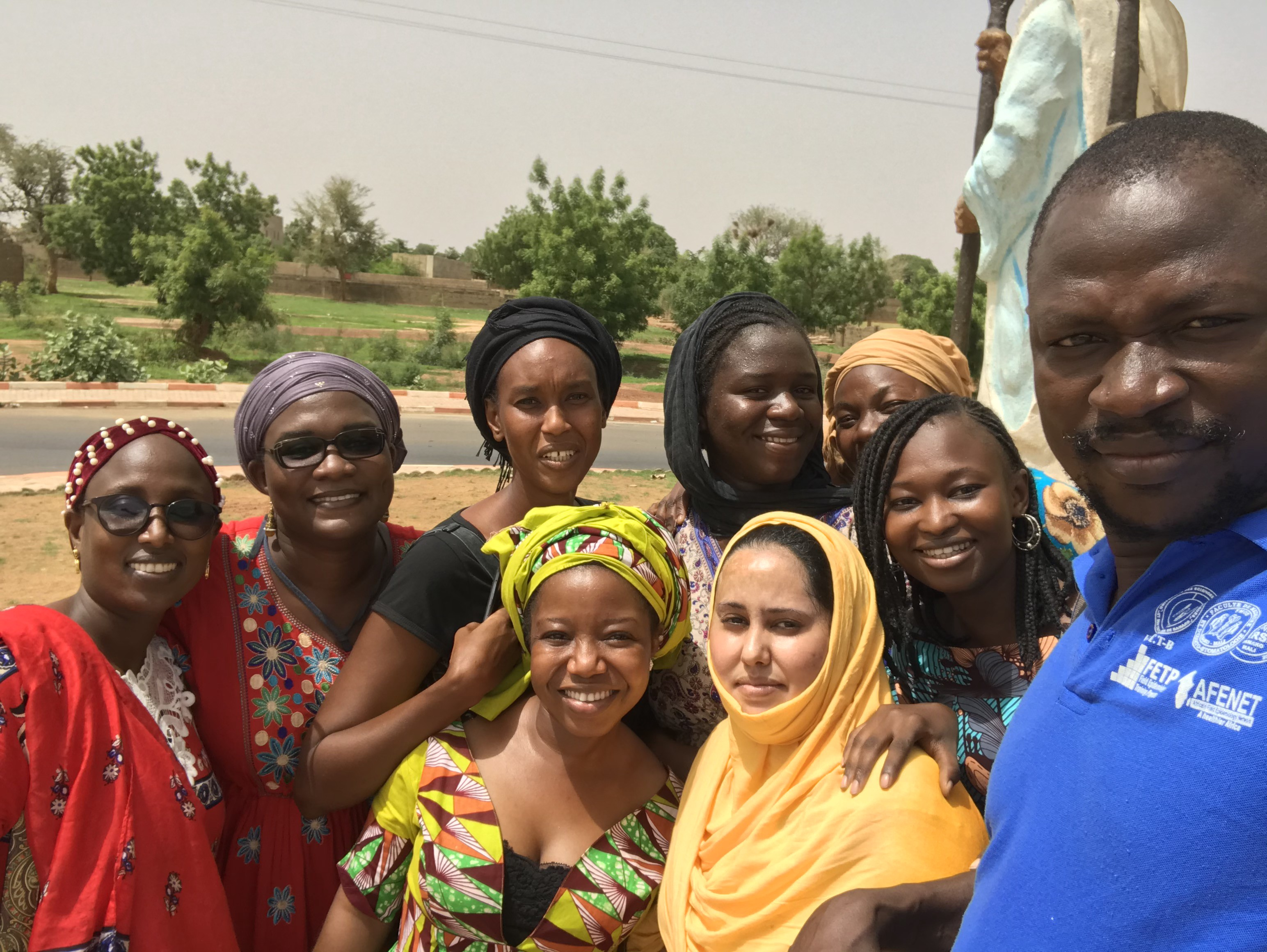 Mama Yeleen research team led by Dr. Yaya Togo (R) (Mali)