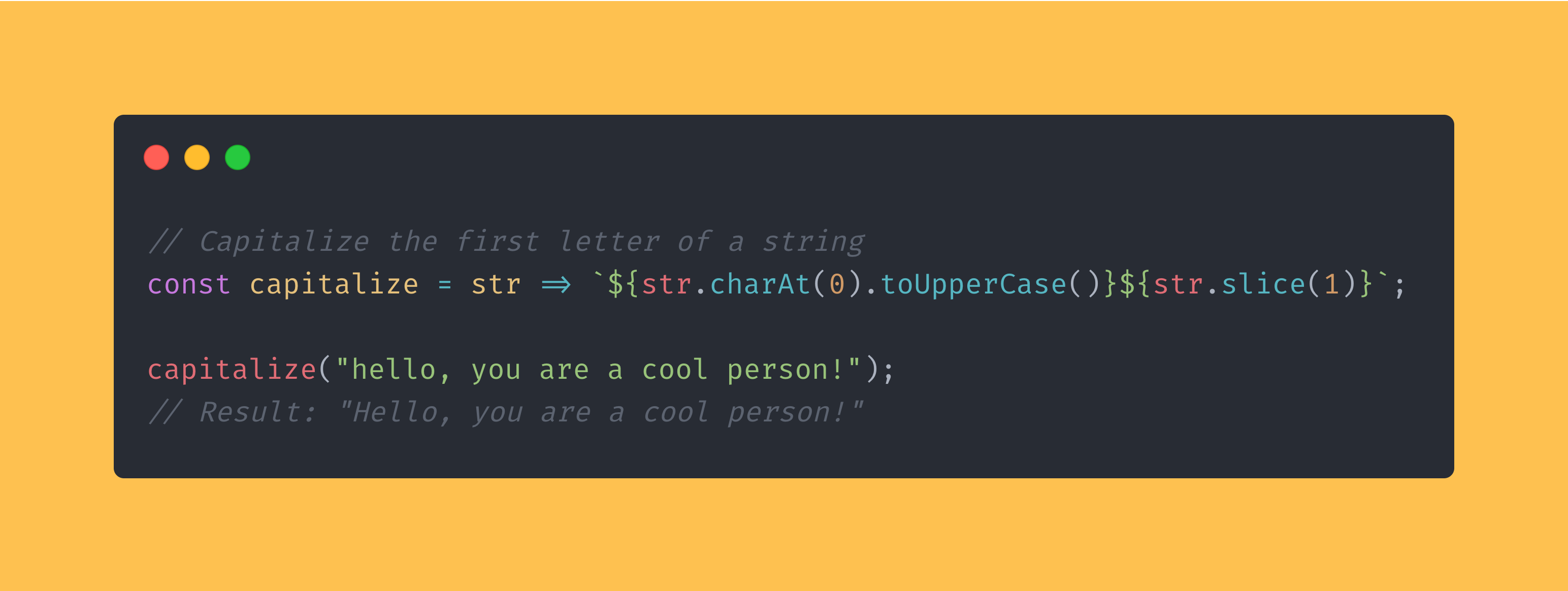 JavaScript function that capitalizes the first letter of a sentence.