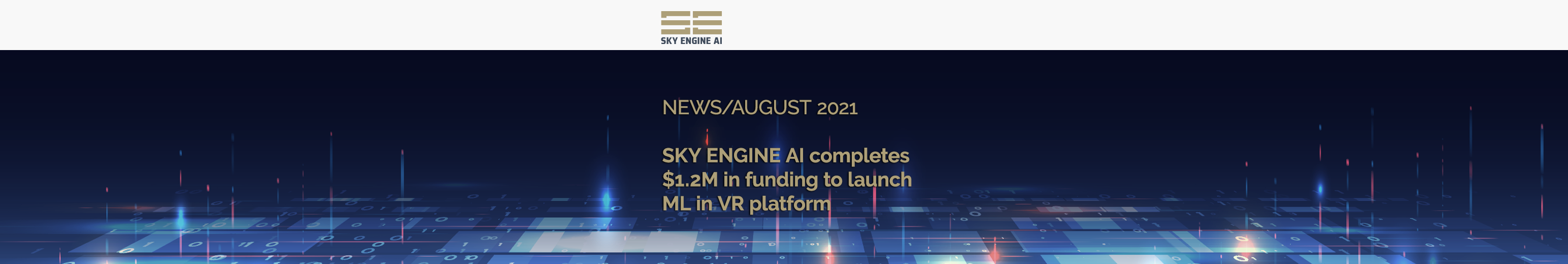 SKY ENGINE AI completes $1.2M in funding to launch Machine Learning in Virtual Reality platform