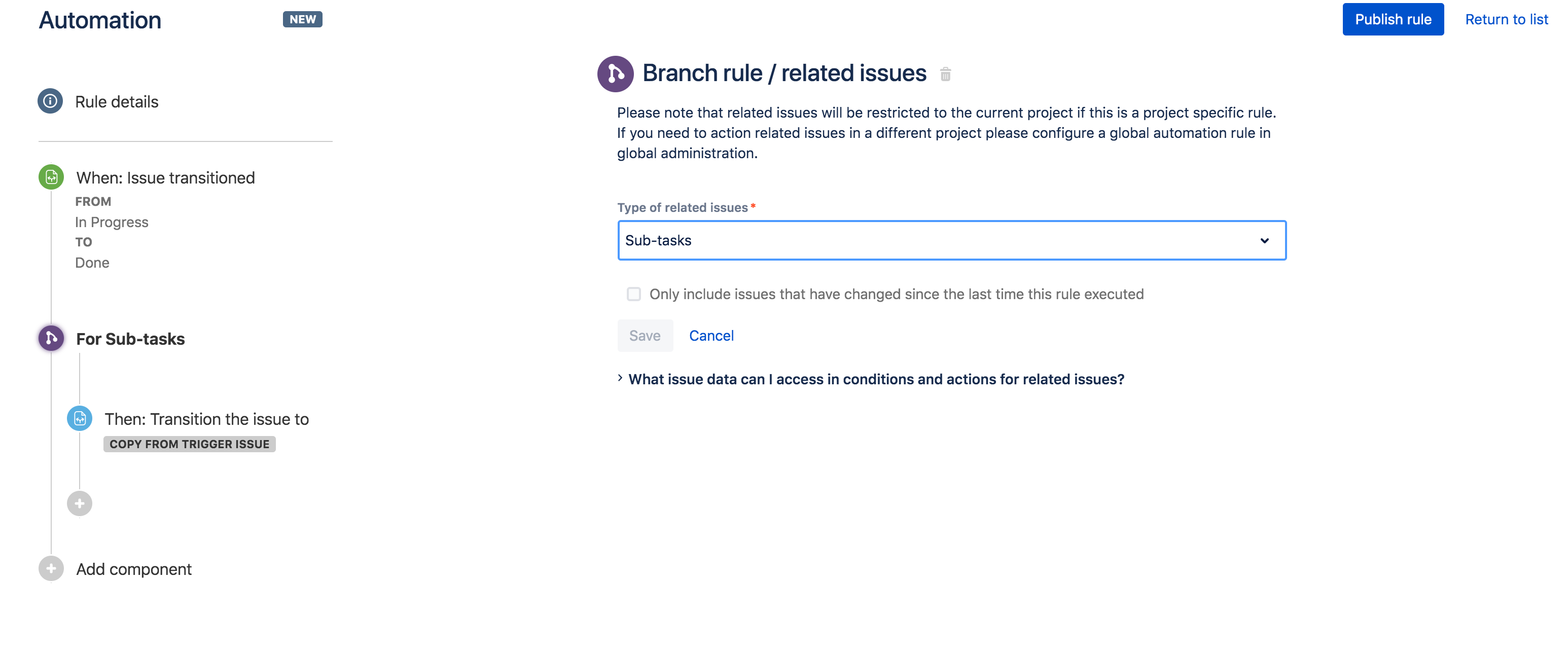 Synchronize parent and sub-task issues with Automation for JIRA!